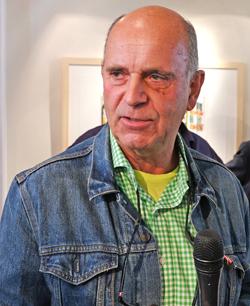 """Michael Heindorff: """"Du hast mir eines der Schlüsselerlebnisse vermittelt  über das, was Kunst sein kann, und was in der Kunst möglich sein kann!""""  Foto: Diether v. Goddenthow"""