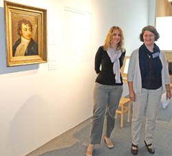 Kuratorinnen Dr. Claudia Bamberg u. Dr. Cornelia IIbrig. Foto: Diether v. Goddenthow