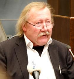 """Peter Sloterdijk sprach über """"Die exzentrische Stellung oder: Die zweite Transzendenz"""" Foto: Diether v. Goddenthow"""