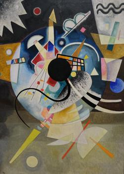 Wassily Kandinsky (1866 - 1944) Ein Zentrum, 1924. Öl auf Leinwand. Foto: Diether v. Goddenthow
