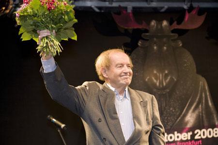 Sondermann-Preisträger Hans Traxler. Die Verleihung findet am 11.November 2017 im Rahmen einer Gala in der Brotfabrik Frankfurt statt. Foto: Diether v. Goddenthow