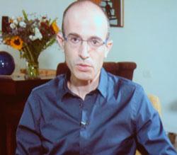 """Yuval Noah Harari  erhielt für """"Homo Deus – Eine Geschichte von Morgen"""" aus dem C.H.Beck –Verlag, den Wirtschaftsbuchpreis 2017 - Foto aus der Videobotschaft - (Handelsbltt)"""