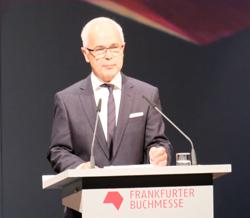 Heinricht Riethmüller, Vorsteher des Börsenvereins des Deutschen Buchhandels. Foto: Diether v. Goddenthow
