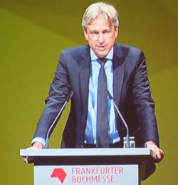 Jürgen Boos Geschäftsführer der Frankfurter Buchmesse. Foto: Diether v. Goddenthow