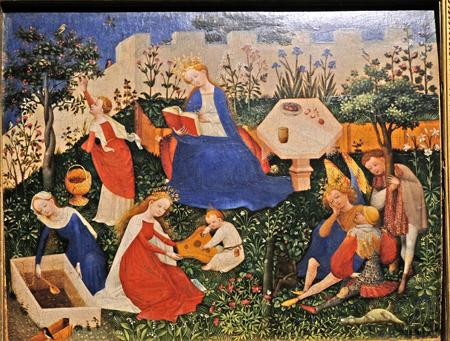 Das Paradiesgärtlein (1410 - 1420) ist ein besonders schönes frühes Beispiel naturgetreuer Malerei. Foto: Diether v. Goddenthow