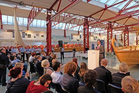 Die Delegierten waren auch über das wunderbare Ambiente des Museums für Antike Schifffahrt begeistert. Foto: Diether v. Goddenthow