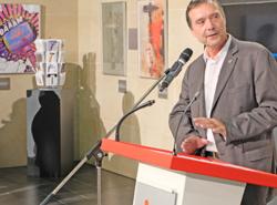 """Prof. Dr. Detlev Reymann, Präsident der Hochschule RheinMain, fand das zunächst """"für eine bekloppte Idee"""". Foto: Diether v. Goddenthow"""