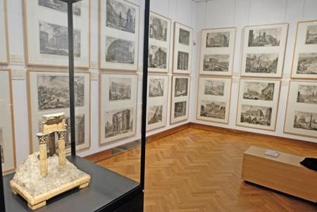 96 Drucke von Giovanni Battista Piranesi zeigt Raum 2.  Foto: Diether v. Goddenthow