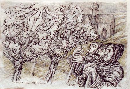 Bild: Vision im Apfelbaum, Eberhard Linke © GDKE Rheinland-Pfalz – Landesmuseum Mainz (Foto: Ursula Rudischer)