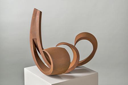 René Dantes, Natura, 2010, Cortenstahl, Breite 72 cm