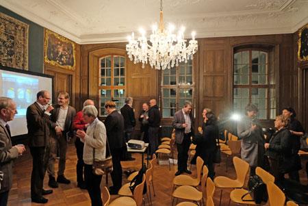 Impression aus dem original erhaltenen Barock-Saal im Erthaler Hof.© Foto: Diether v. Goddenthow