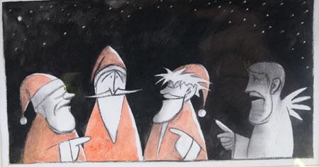 © Robert Gernhardt, aus: Die Falle. Caricatura Museum für Komische Kunst Frankfurt  Foto: Diether v. Goddenthow