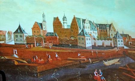 Schloss Darmstadt, Nordansicht, Ende des 17. Jahrhunderts, nach Rodingh?