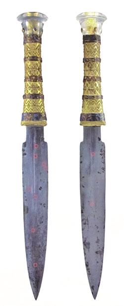 30 Zentimeter misst Tutanchamus Dolch aus Meteorit-Eisen.