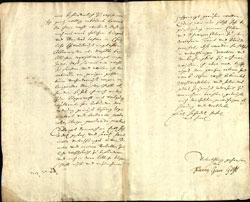 Friedrich Georg Göthé: Bittschrift zur Aufnahme in die Frankfurter Bürgerschaft vom 14.12.1686 © Institut für Stadtgeschichte Frankfurt