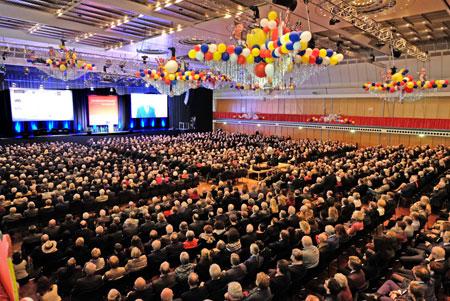 Der größte Neujahrsempfang der regionalen Wirtschaft in Deutschland in der Rheingoldhalle in Mainz am 7. Februar 2018.  Foto: Diether v. Goddenthow © atelier-goddenthow.de