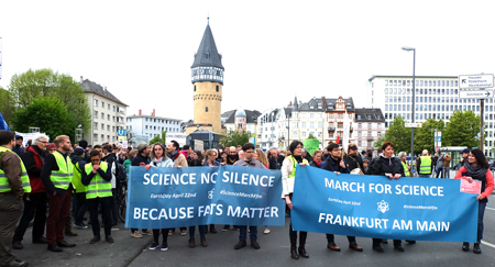 Frankfurter March for Science 2017. © Foto: Diether v. Goddenthow