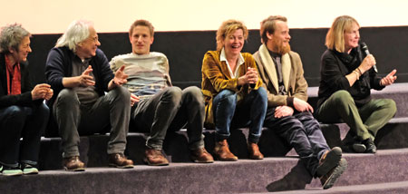 Filmgespräch mit Margarita Broich, Golo Euler, Stefan Konarske,   Lili Kobbe u. Liane Jessen. © Foto: Diether v. Goddenthow
