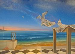 """Ein wenig an Salvador Dalis surreale Werke erinnert Nico Capiellos Bild """"Zeitloser Traum"""". © Foto: Diether v. Goddenthow"""