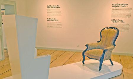 """Der Sessel gehört zu den Höhepunkten der neuen Dauerausstellung """"Von Trier in die Welt: Karl Marx, seine Ideen und ihre Wirkung bis heute""""  © Foto: Diether v. Goddenthow"""