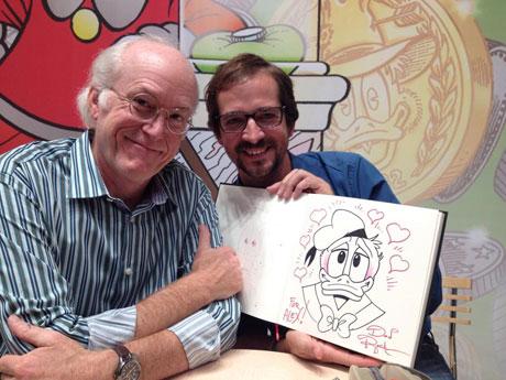 Jakubowski und Don Rosa.Foto Agentur Bonewitz.