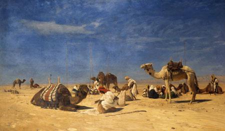 Eugen Bracht Rast in der Wüste © Landesmuseum Mainz
