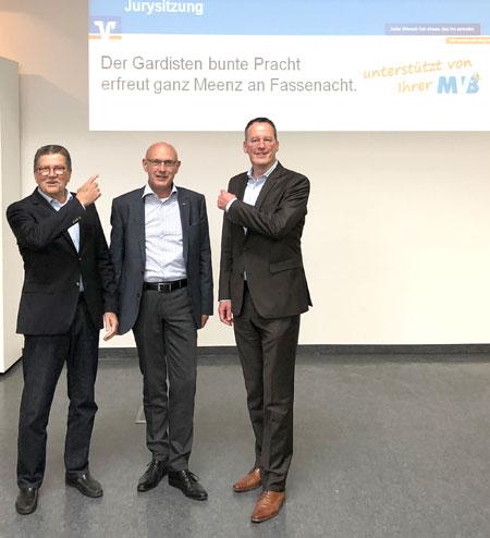 Bild: Von links: MCV-Präsident Reinhard Urban, der Vorstandsvorsitzende der MVB, Uwe Abel, und der Oberbürgermeister der Stadt Mainz, Michael Ebling.  © Agentur Bonewitz