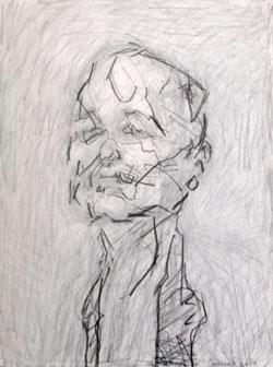 Frank Auerbach, Selbstbildnis 2017, wurde 2017 vom Städel-Museum mit Mitteln der Jürgen R. und Eva-Maria Mann Stiftung erworben, und bildete mit den Anstoß für diese Ausstellung.Foto: Diether v. Goddenthow