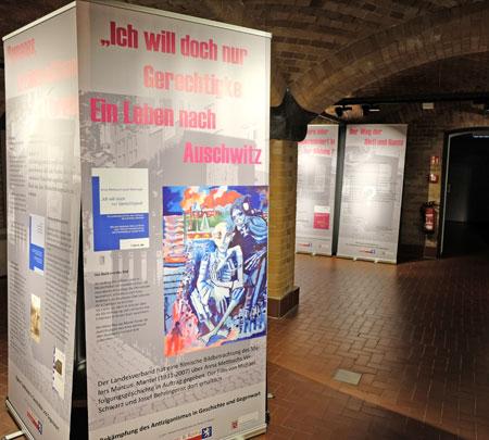 """Mobile Ausstellung """"Der Weg der Sinti und Roma"""" vom 30. Mai bis 24. Juni 2018 im Wiesbadener Stadtmuseum am Markt (SAM). © Foto: Diether v. Goddenthow"""