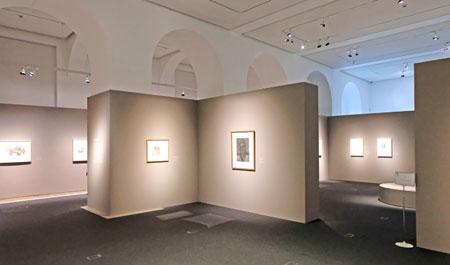 Impression der Ausstellung: FRANK AUERBACH UND LUCIAN FREUD. GESICHTER 16. MAI BIS 12. AUGUST 2018. Foto: Diether v. Goddenthow