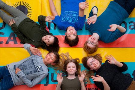 Junge Juror/innen der Sektion 8+ und 13+ für LUCAS - Internationales Festival für junge Filmfans.  © DFI