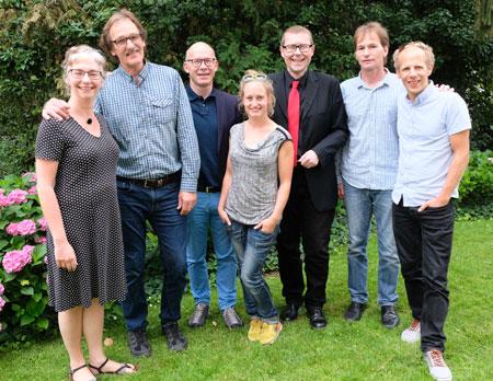 Die Auswahlkommission des European Youth Circus mit Kulturdezernent Axel Imholz (rote Krawatte). © Foto: Diether v. Goddenthow