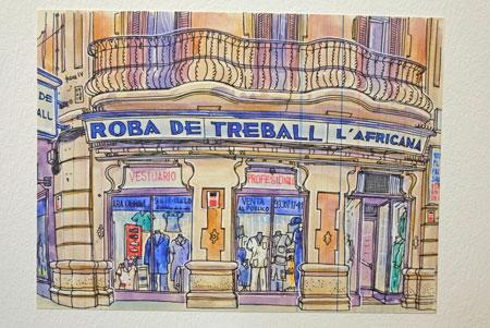 Eindruck aus Paris vom französischen Illustrator Lapin. © Foto: Diether v. Goddenthow