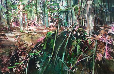 Gisela Krohn, Oben und Unten, 2015, Öl auf Leinwand, 170 x 260 cm. © Foto: Galerie Rother Winter