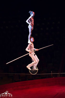 Tightrope Walker Kusnetzov. © European Youth Circus
