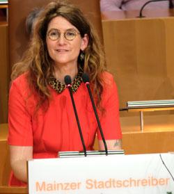 Anna Katharina Hahn, Mainzer Stadtschreiberin 2018. © Foto: Diether v. Goddenthow