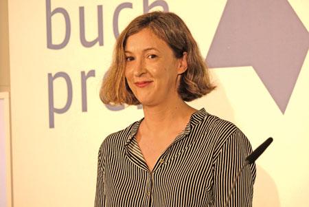 """Die Gewinnerin des Deutschen Buchpreises 2018 ist Inger-Maria Mahlke. Sie erhält die Auszeichnung für ihren Roman """"Archipel"""" (Rowohlt). © Foto: Diether v. Goddenthow"""