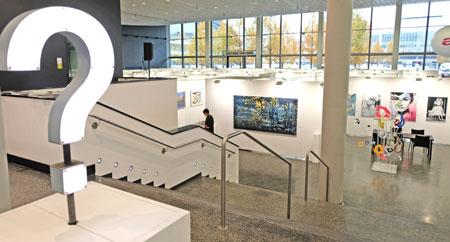 Die Discovery Art Fair präsentiert vom 2. bis 4. 11.2018 erstmals ein breites Spektrum aufstrebender zeitgenössischer Kunst in der Finanzmetropole Frankfurt am Main.© Foto: Diether v. Goddenthow