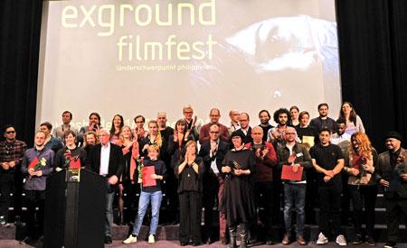 Preisträger und Exgroundteam bei der Preisverleihung m 25.Nov.2018 © Foto: Diether v. Goddenthow
