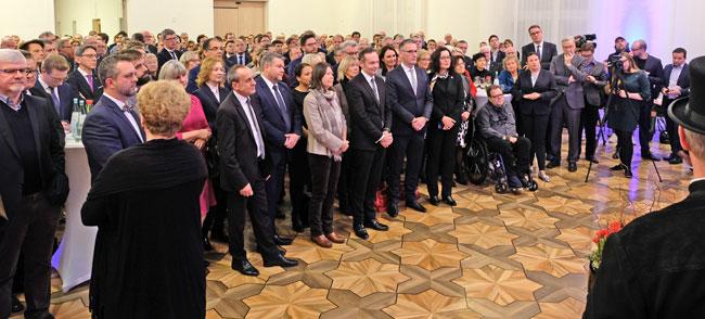 Über 350 Gäste aus über Gäste aus Gesellschaft, Kultur, Politik, Kirchen und Wirtschaft. © Foto: Diether v. Goddenthow