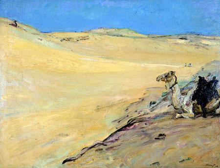 Max Slevogt, Lybische Wüste, 1914 © GDKE – Landesmuseum Mainz (Foto: Ursula Rudischer)