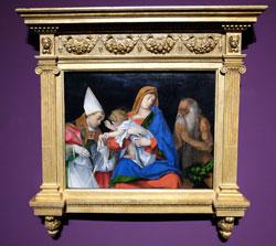 Lorenzo Lotto. Madonna mit Kind und den Heiligen Ignatius von Antiochia und Onophirus. 1508. Öl auf Holz. Rom, Galerria Borghese. © Foto: Diether v. Goddenthow