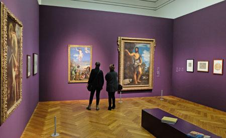 """Ausstellungs-Impression """"Der männliche Akt"""". An der florentinischen (und auch römischen) Kunst beeindruckt die Venezianer vor allem die an der Antike geschulte Darstellung muskulöser männlicher Aktfiguren, die Michelangelo zur Perfektion gebracht hatte. © Foto: Diether v. Goddenthow"""