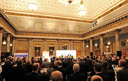 Parlamentarisches Neujahrstreffen am 6.2.2019 im Kurhaus Wiesbaden. © Foto: Diether v. Goddenthow