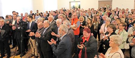 In diesem Jahr waren rund 300 ehrenamtlich engagierte Bürgerinnen und Bürger eingeladen.© Foto: Atelier . v. Goddenthow.