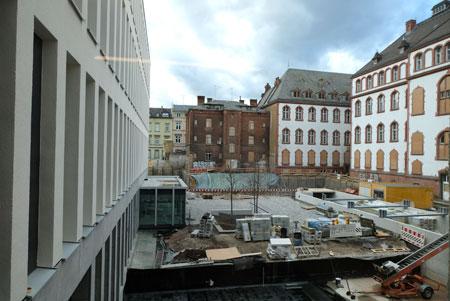 Der Campus wird einmal Hochschule und das Alte Gericht miteinander verbinden.© Foto: Diether v. Goddenthow