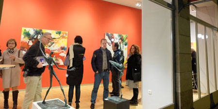 In der  Galerie Rother Winter.© Foto: Diether v. Goddenthow