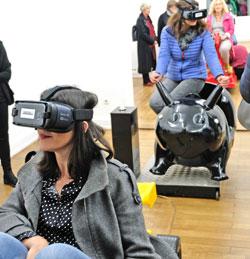 The Fair Grounds 1.0/ Mit Virtual-Reality-Brille zurück in die Kindheit und Zukunft.© Foto: Diether v. Goddenthow