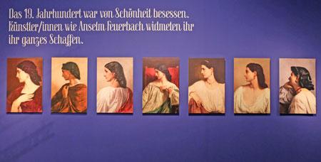Das 19. Jahrhundert war von Schönheit besessen. Künstler/innen wie Anselm Feuerbach widmeten ihr ihr ganzes Schaffen, so die  Sagmeister. © Foto: Diether v. Goddenthow