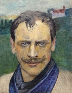Harald Sohlberg (1869 - 1935), Selbstporträt um 1896, Öl auf Leinwand. © Foto: Diether v. Goddenthow